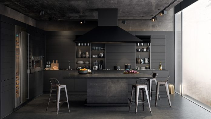 luxury dark kitchen